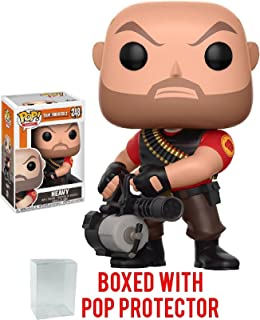 Funko Pop! Games: Team Fortress 2 - Heavy Vinyl Figure (Bundled with Pop BOX PROTECTOR CASE)