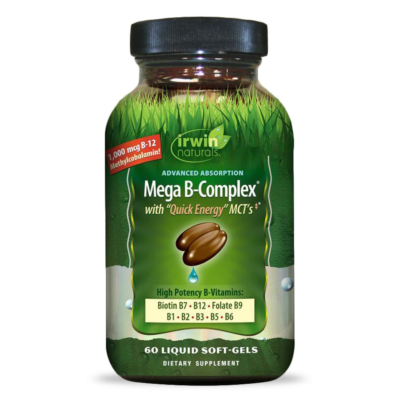 Irwin Naturals Mega-B Complex - 1 Max 63% OFF High 000 B-12 Potency B- Max 41% OFF mcg