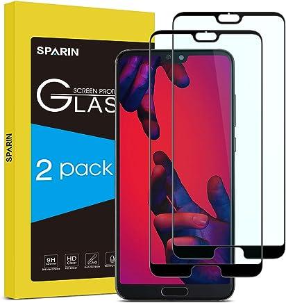 SPARIN [2-Pack] Protector Pantalla Huawei P20 Pro, Full-Cover Cristal Templado Huawei P20 Pro [Sin Burbujas] [Anti-Arañazos] [Dureza 9H] [Anti-Huella] [Ajuste Negro