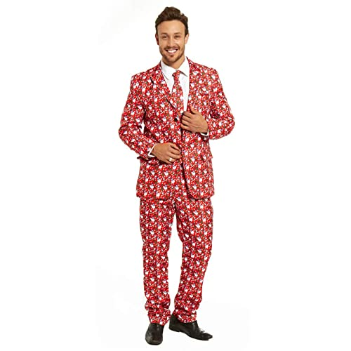 465848b375281 Mens Christmas Bachelor Party Suit Funny Novelty Xmas Jacket with Tie