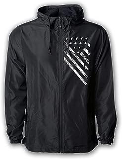 USA Windbreaker Jacket- for Men or Women, American Flag Patriotic Hoodie Zip Up