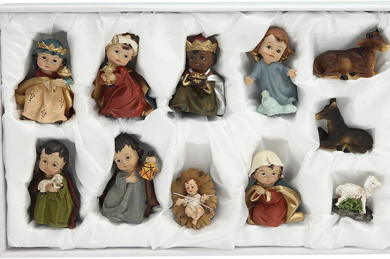 MYBOON Paquete de 11 pesebres Nacidos en Belén - Belén para decoración navideña de Interiores Nacidos en Belén Conjunto de Figuras de belén