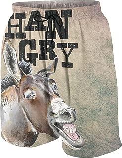 SYSOIO Hangry Donkey with White Teeth Funny Donkey Beach Pants Boys Boardshorts Kids
