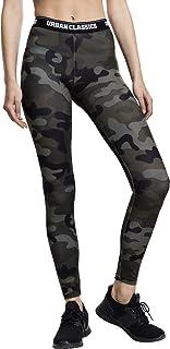 Urban Classics Ladies Camo Logo, Women Leggings, Multicolored
