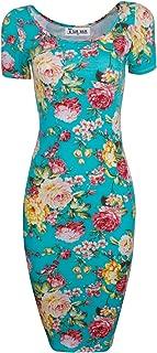 TAM WARE Women's Sweetheart Short Sleeve Midi Dress by Tom's Ware