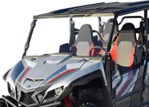 SuperATV Heavy Duty Clear Scratch Resistant Full Windshield for Yamaha Wolverine X4 (2018+) - Installs in less than 5 minutes! - Clear Scratch Resistant