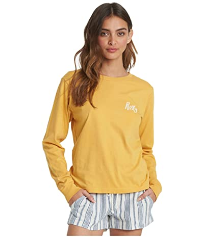 Roxy Crystal Cover Long Sleeve Tee (Mineral Yellow) Women