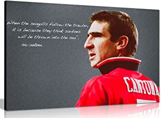Eric Cantona Manchester United Sardines Quote Canvas Wall Art Picture Print (12x8in)