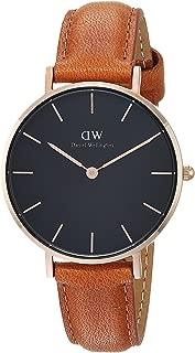 [ダニエル・ウェリントン]Daniel Wellington 腕時計 DW00100166 Classic Petite Durham 32mm ブラック/ローズゴールド/ブラウン レディース [並行輸入品]