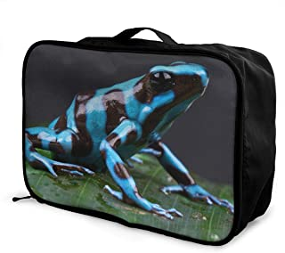 Dart Frog Blue Travel Lightweight Large Capacity Portable Luggage Bag Suitcase