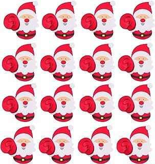 50pcs Cute Christmas Santa Claus Paper Candy Lollipop Tag Cards Festival Party Favors Gift Decorations