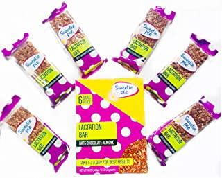 Sweetie Pie Lactation Bars, 6 bars, Chocolate Oats & Almond, Alternative to Lactation Cookies. Yummy Lactation Supports Milk Supply during Breastfeeding
