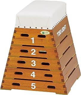 TOEI LIGHT(トーエイライト) TOEI LIGHT(トーエイライト) 跳び箱ST5段(上部ライン無) 下幅60(上幅30)×奥行60×高さ70cm 5段 小学校向 T1859 T1859