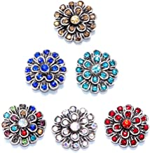 Soleebee Mixed Alloy Rhinestones Snap Buttons Jewelry Charms