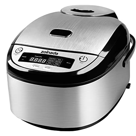 Rice Cooker, ZOINADA 16 Cups Cooked (8 Cups Uncooked) All-in-1 Programmable Multi Cooker, Stew, Steam, Pasta, Soup with 24 Hours Delay Timer and Auto Keep Warm Functions