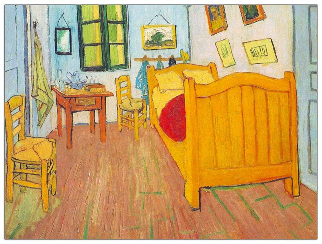 ArtPlaza TW90910 Van Gogh Vincent - The Bedroom in Arles. Saint-Remy Decorative Panel 35.5x27.5 Inch Multicolored
