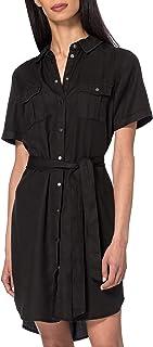 فستان فمسيليجا قصير بلون رمادي من فيرو مودا، مقاس S