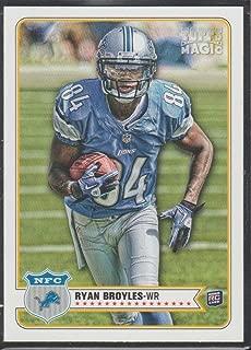 2012 Topps Magic Ryan Broyles Lions Rookie Football Card #188