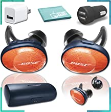 Bose SoundSport Free Wireless in-Ear Headphones (Orange) Essentials Bundle