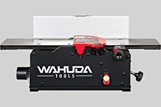 Wahuda Tools 50160CC-WHD (6 inch) Bench Top Spiral Cutterhead Jointer with Cast Iron table & 4 sided Carbide tips installed