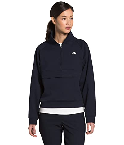 The North Face Explore City 1/4 Zip Sweatshirt (Aviator Navy) Women