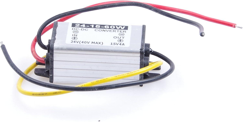 KNACRO 24V 36V (17-40V) to DC 15V 4A 60W Waterproof Power Converter Regulator Transformer-Pack of 10Pcs