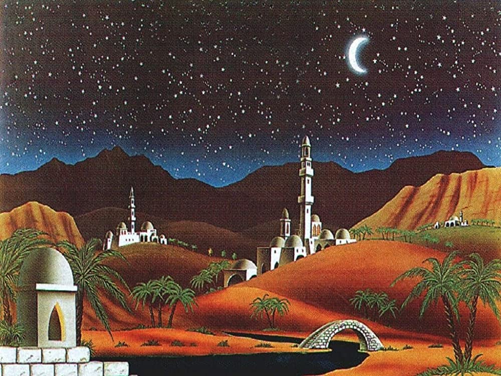 Ferrari & arrighetti,scenario paesaggio arabo,paesaggi del presepe 723B