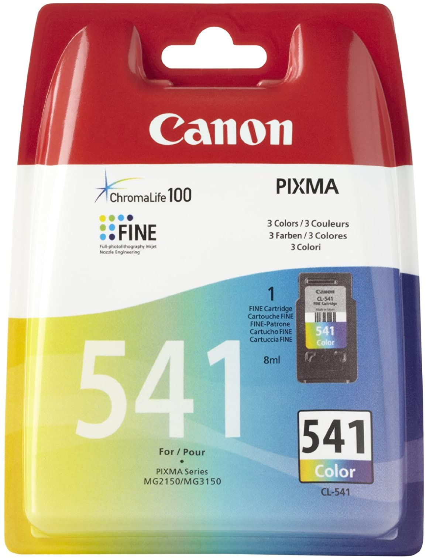 Canon Cl 541 C M Y Farb Druckertinte 8 Ml Für Pixma Tintenstrahldrucker Original Bürobedarf Schreibwaren