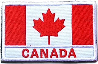 (Canada) - Canada Flag Patch Embroidered Military Tactical Flag Patch