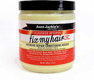 Aunt Jackie's Flaxseed Recipes Fix My Hair, Intensive Repair Conditioning Masque, Helps Prevent and Repair Damaged Hair, 1...