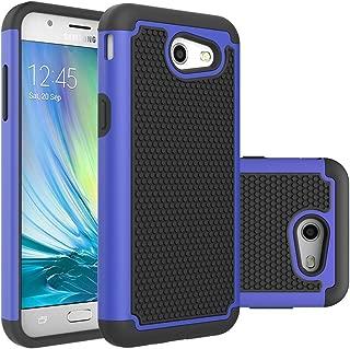 Galaxy J3 Emerge Case,Galaxy J3 Prime Case,Galaxy J3 Luna Pro Case,J3 Eclipse Case,Galaxy Express/Amp Prime 2 Case,Asmart Armor Defender Cover Protective Phone Case for Samsung Galaxy J3 2017, Blue