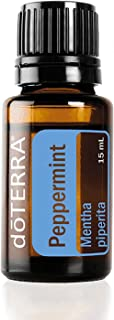 doTERRA - Peppermint Essential Oil - Promotes Clear Breathing, Healthy Respiratory Function, and Digestive Health; for Diffusion, Internal, or Topical Use - 15 mL