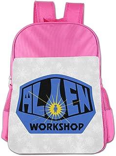 Boys Girls Workshop Skate Backpack School Bag (2 Color Pink Blue)