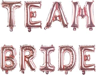 Ella Celebration Non-Floating Team Bride Balloons, Balloon Letters for Bachelorette Party, Bridal Shower Decor (Rose Gold)