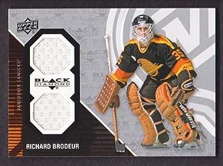 2011-12 Black Diamond Dual Jersey #GOALIE-RB Richard Brodeur Vancouver Canucks