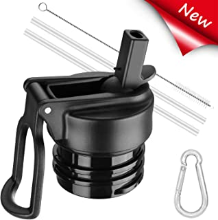 Enjoyee Straw Lid for Hydro Flask Standard Mouth,  Bonus 2 Straws, 1 Straw Brush and 1 Carabiner,  Compatible with Most Brands Standard Mouth Water Bottles