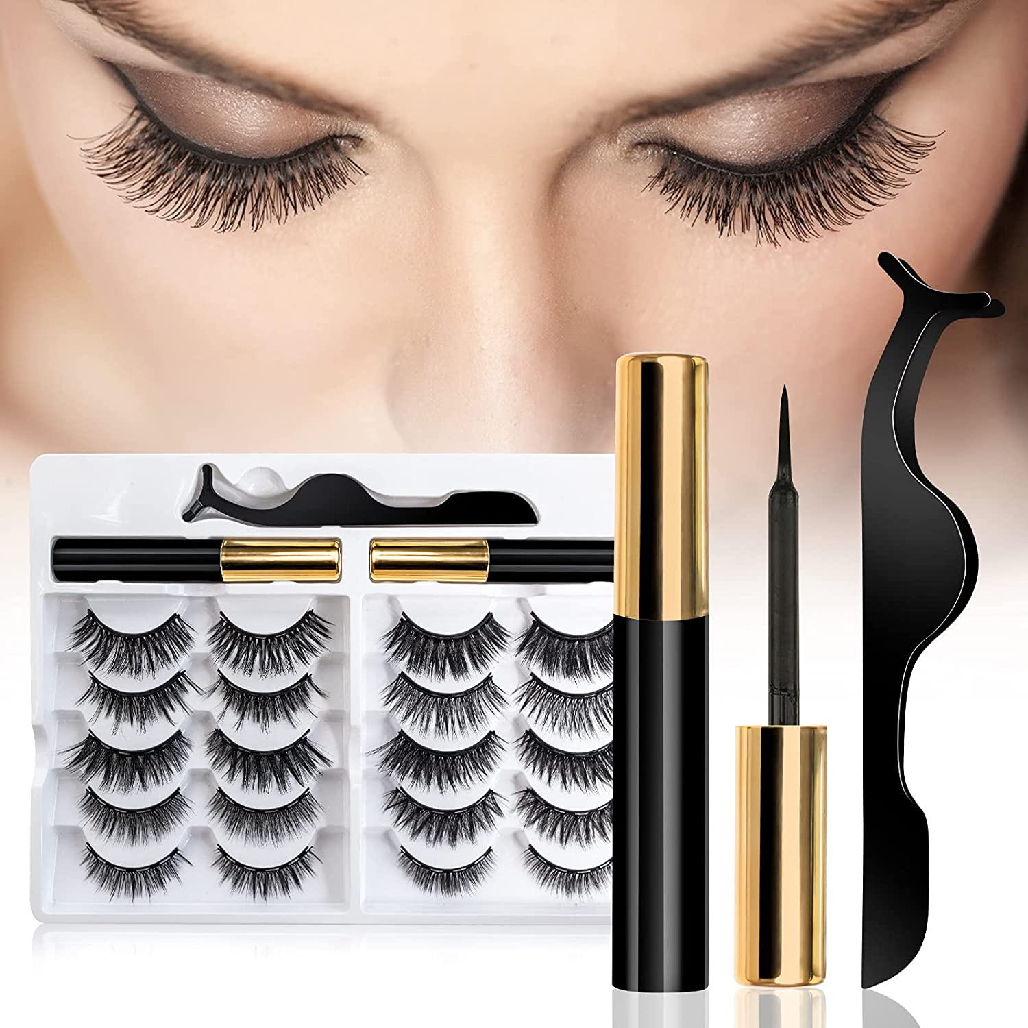 Magnetic Lashes Eyelash 10 Fcicarn Pairs Mag Selling Max 56% OFF rankings Reusable