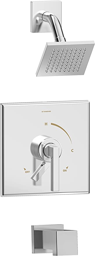 Symmons S 3602 Sh4 T4 1 5 Trm Duro Single Handle 1 Spray Tub And Shower Faucet Trim In Polished Chrome 1 5 Gpm Valve Not Included Amazon Com