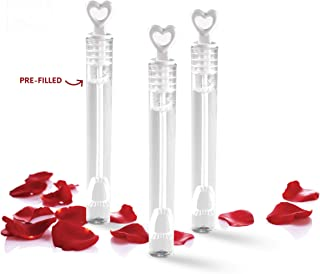 Big Mo's Toys 40 Pack Mini Heart Bubble Wands – Great Wand Bubbles Party Favors for Weddings and Anniversaries