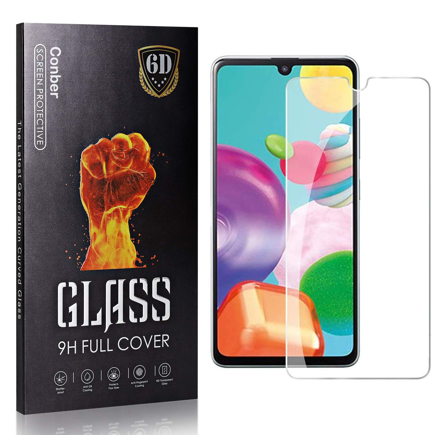 Conber 1 Limited price sale Pack Screen Protector Tempere for Galaxy Samsung discount A41
