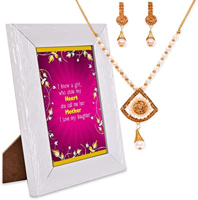 Happy Daughter Day Necklace & Quotation Frame Hamper