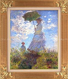 絵画風 壁紙ポスター (はがせるシール式) クロード モネ 散歩 日傘をさす女性 1875年 ワシントンナショナルギャラリー 【額縁印刷/トリックアート】 キャラクロ K-MON-004SGK1 (594mm×691mm) 建築用壁紙+耐候性塗料