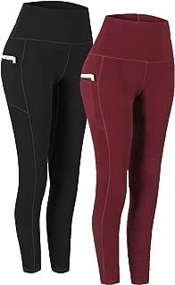 Fengbay 2 Pack High Waist Yoga Pants, Pocket Yoga Pants Tummy Control Workout Running 4..