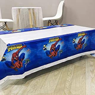 2 pack Spiderman Themed Birthday Party Decorations – Disposable Spiderman Plastic Tablecloth Disposable Table Cover | Spid...