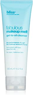 bliss Fabulous Makeup Melt Gel to Oil Cleanser | Makeup Remover | Formulated with Our Spa Blend of 7 Essential Oils