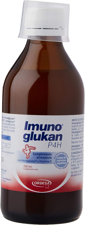 Imunoglukan jarabe 250ml - Formato Ahorro - Complemento alimenticio, con vitamina C que contribuye al correcto funcionamiento del sistema inmunitario. 1ml/5kg de peso.: Amazon.es: Salud y cuidado personal