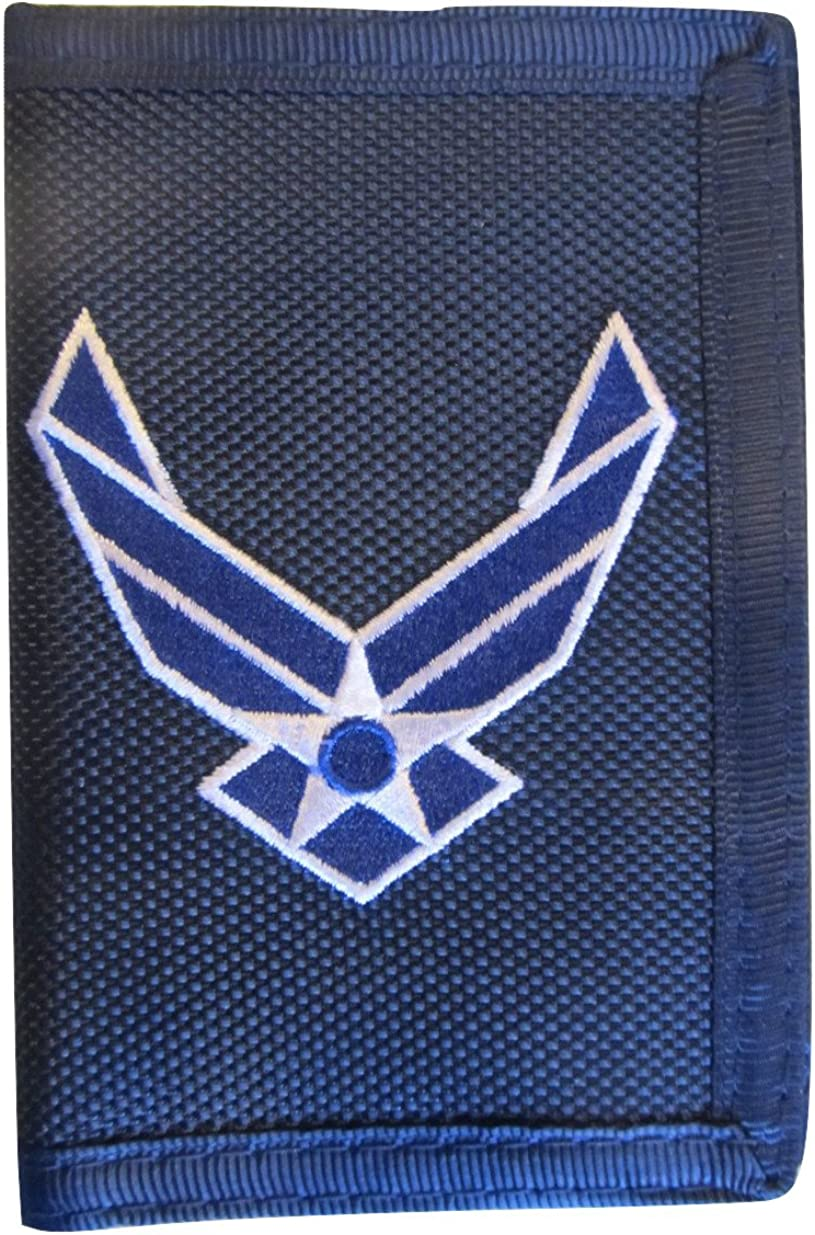 EagleU.S. AIR FORCE WALLET-HEAVY DUTY NYLON TRIFOLD, Blue