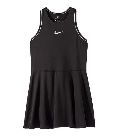 Nike Kids Court Dry Tennis Dress (Little Kids/Big Kids) (Black/White/White) Girl
