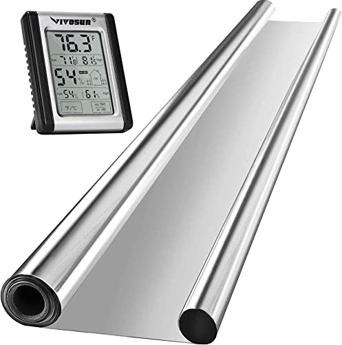 popular VIVOSUN Horticulture Highly Reflective Mylar Film Roll 4FT X 100FT 2 Mil, popular and Digital Indoor Thermometer and discount Hygrometer outlet sale