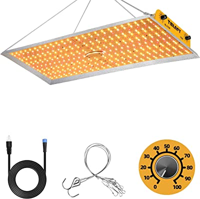 Tmlapy 3000W Led Grow Light 4x5.3ft Dimmable Full Spectrum LED Growing Lights for Indoor Plants Greenhouse Veg Bloom Light with 432 LEDs Hydroponic Growing Lamps Actual Power 260Watt